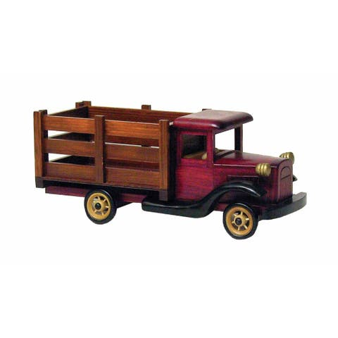 Wald Imports Brown & Red Wood Truck