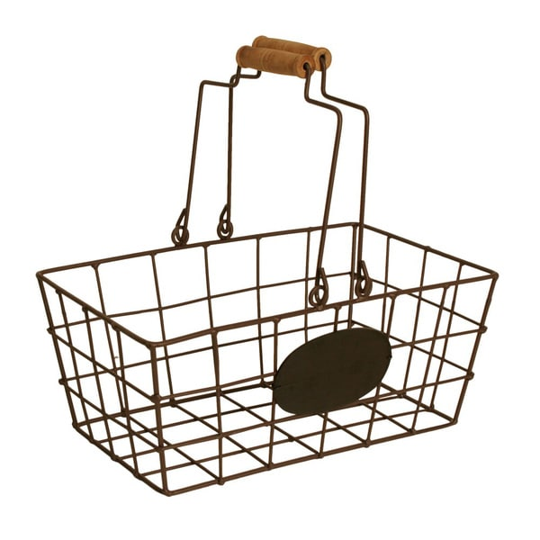 Wald Imports Brown Small Wire Market Basket