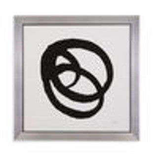 Bassett Mirror Company 'Kinetic IV' Grey Framed Wall Art