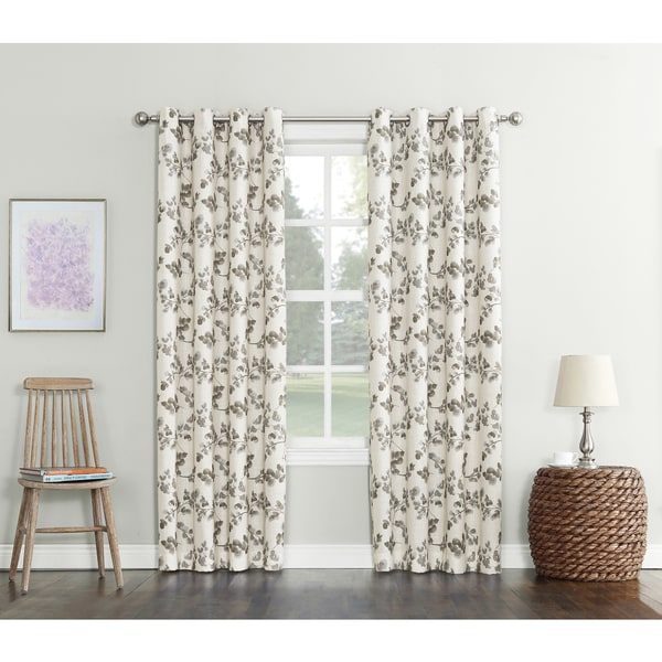Sun Zero Gilby Woven Texture Energy Efficient Blackout Curtain Panel