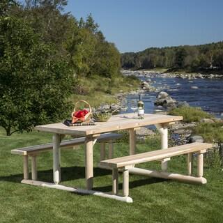 Bestar White Cedar Riverside Picnic Table