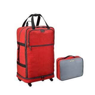 Biaggi Zipsak 27-inch 4-wheel Microfold Spinner Suitcase|https://ak1.ostkcdn.com/images/products/14678508/P21212802.jpg?impolicy=medium