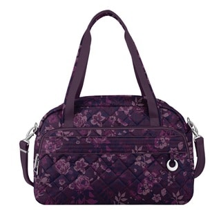 Travelon Anti-Theft Boho Wine Rose Carry On Weekender Duffel Bag