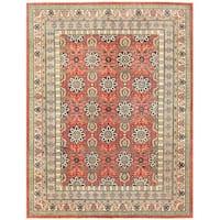 Herat Oriental Afghan Hand-knotted Vegetable Dye Khotan Wool Rug - 8'11 x 11'7