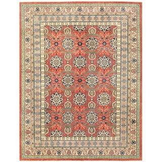 Herat Oriental Afghan Hand-knotted Vegetable Dye Khotan Wool Rug (8'11 x 11'7)