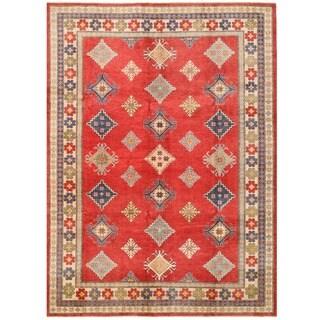 Herat Oriental Afghan Hand-knotted Kazak Wool Rug (8'11 x 12'4)
