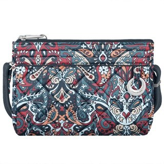 Travelon Anti-theft Boho Summer Paisley Convertible Crossbody Clutch