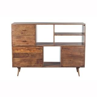 Mandara Handcrafted Solid Sheesham Wood Modern Bookshelf