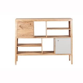 Mandara Handcrafted Solid Acacia Wood Modern Bookshelf