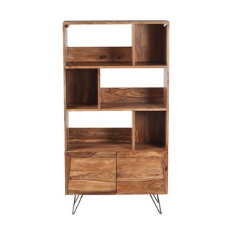 Mandara Handcrafted Solid Wood Modern Bookcase