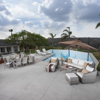 RST Brands Cannes Moroccan Cream Sunbrella/Resin Wicker/Aluminum 20-piece Estate Set