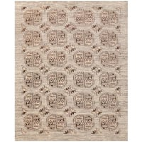 Herat Oriental Afghan Hand-knotted Transitional Turkoman Wool Rug (7'8 x 9'6)