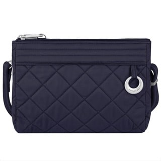 Travelon Anti-theft Boho Navy Cotton Convertible Crossbody Clutch
