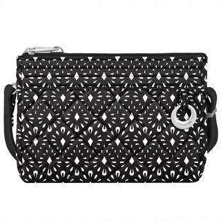 Travelon Anti-theft Boho Geo Shell Convertible Crossbody Clutch