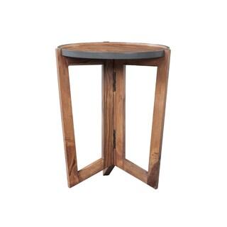 Mandara Handcrafted Solid Sheesham Wood Side Table