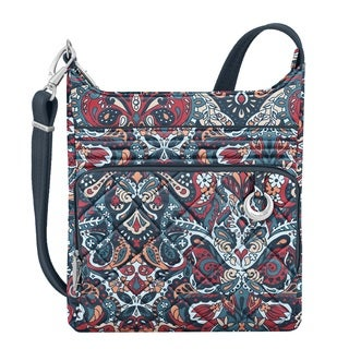 Travelon Anti-Theft Boho Summer Paisley North/South Crossbody Handbag