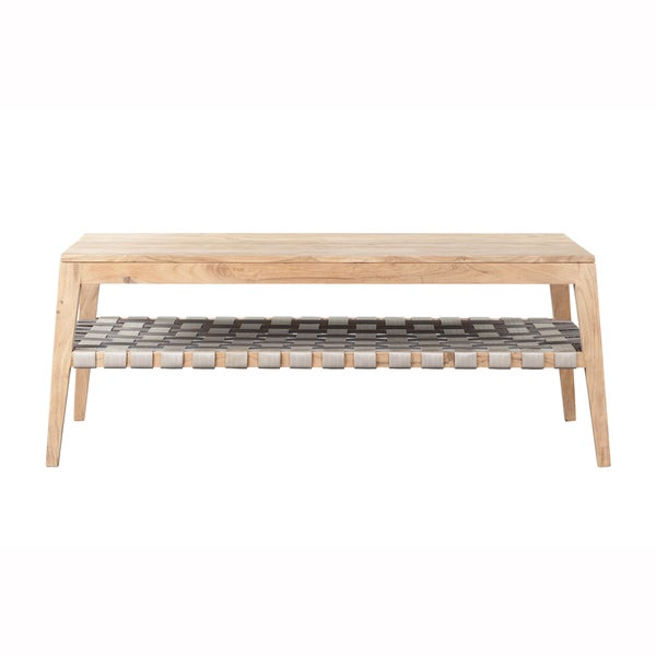 Mandara Natural Solid Acacia Wood Handcrafted Coffee Table