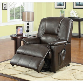 Reseda Traditional Faux Leather Power Recliner