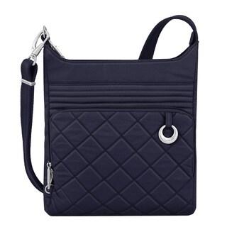 Travelon Navy-blue Anti-theft Boho North/South Crossbody Handbag