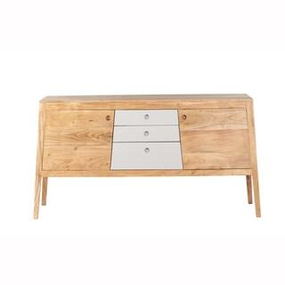 Mandara Handcrafted Solid Acacia Wood Modern Console - 55x16x30