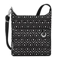 Travelon Boho Geo Shell North/South Black Anti-theft Crossbody Handbag
