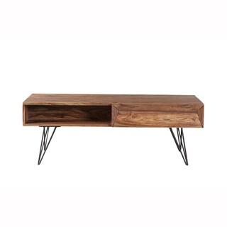 Mandara Handcrafted Solid Sheesham Wood Coffee Table