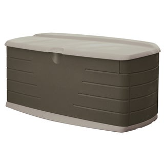 Rubbermaid Olive & Sandstone Deck Box (57-inch long x 12-inch wide x 28-inch high)