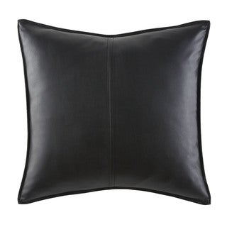 Jones New York Black Vegan Leather Decorative Throw Pillow
