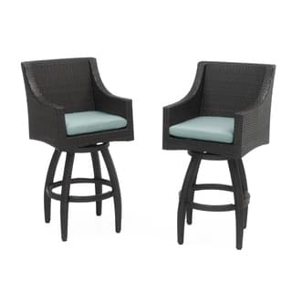 Deco Set of 2 Swivel Barstools in Bliss Blue https://ak1.ostkcdn.com/images/products/14678627/P21212965.jpg?impolicy=medium