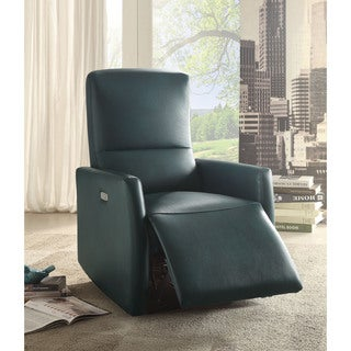 Raff Upholstered Leather Power Recliner