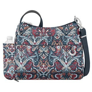 Travelon Anti-theft Boho Square Summer Paisley Crossbody Handbag
