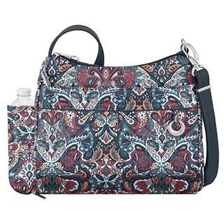 Travelon Anti-theft Boho Square Summer Paisley Crossbody Handbag