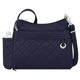 Travelon Navy Anti-theft Boho Square Crossbody Handbag