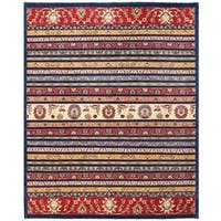 Herat Oriental Afghan Hand-knotted Transitional Kazak Wool Rug (8'1 x 9'11)