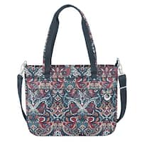 Travelon Anti-Theft Boho Summer Paisley Tote Bag