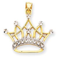 14 Karat Gold Crown Pendant with 18-inch Chain