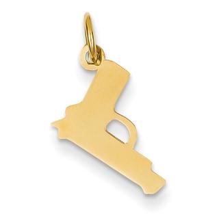 14k Gold Pistol Charm