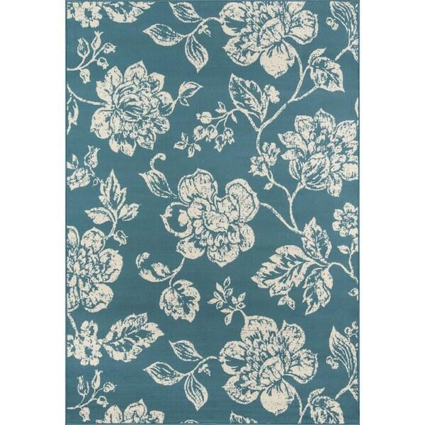 """Momeni Baja Floral Blooms Indoor/Outdoor Area Rug - 6'7"""" x 9'6"""""""