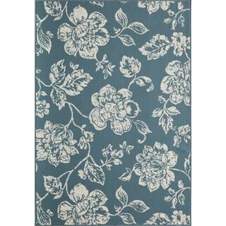 """Machine Made Indoor/Outdoor Floral Blooms Rug (6'7"""" x 9'6"""")"""
