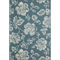 "Momeni Baja Floral Blooms Indoor/Outdoor Area Rug 6'7"" x 9'6"" - 6'7"" x 9'6"""