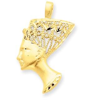 14 Karat Yellow Gold Nefertiti Charm with 18-inch Chain