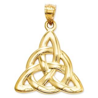 14 Karat Yellow Gold Trinity Pendant with 18-inch Chain