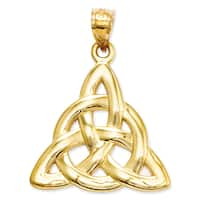 14 Karat Yellow Gold Trinity Pendant with 18-inch Chain