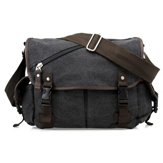 Gearonic Vintage Canvas Messenger Bag (Option: Black)