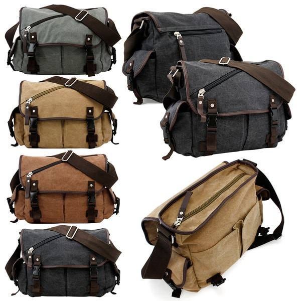 Gearonic Vintage Canvas Messenger Bag