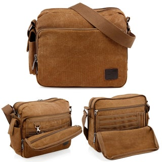 Gearonic Vintage Canvas and Leather Messenger Bag