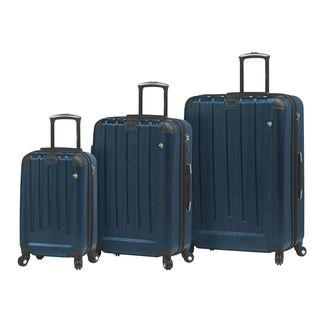 Mia Toro ITALY Diamante Spazzolato 3-piece Expandable Hardside Spinner Luggage Set