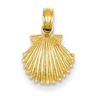 14k Yellow Gold Shell Pendant 10mm x 17mm