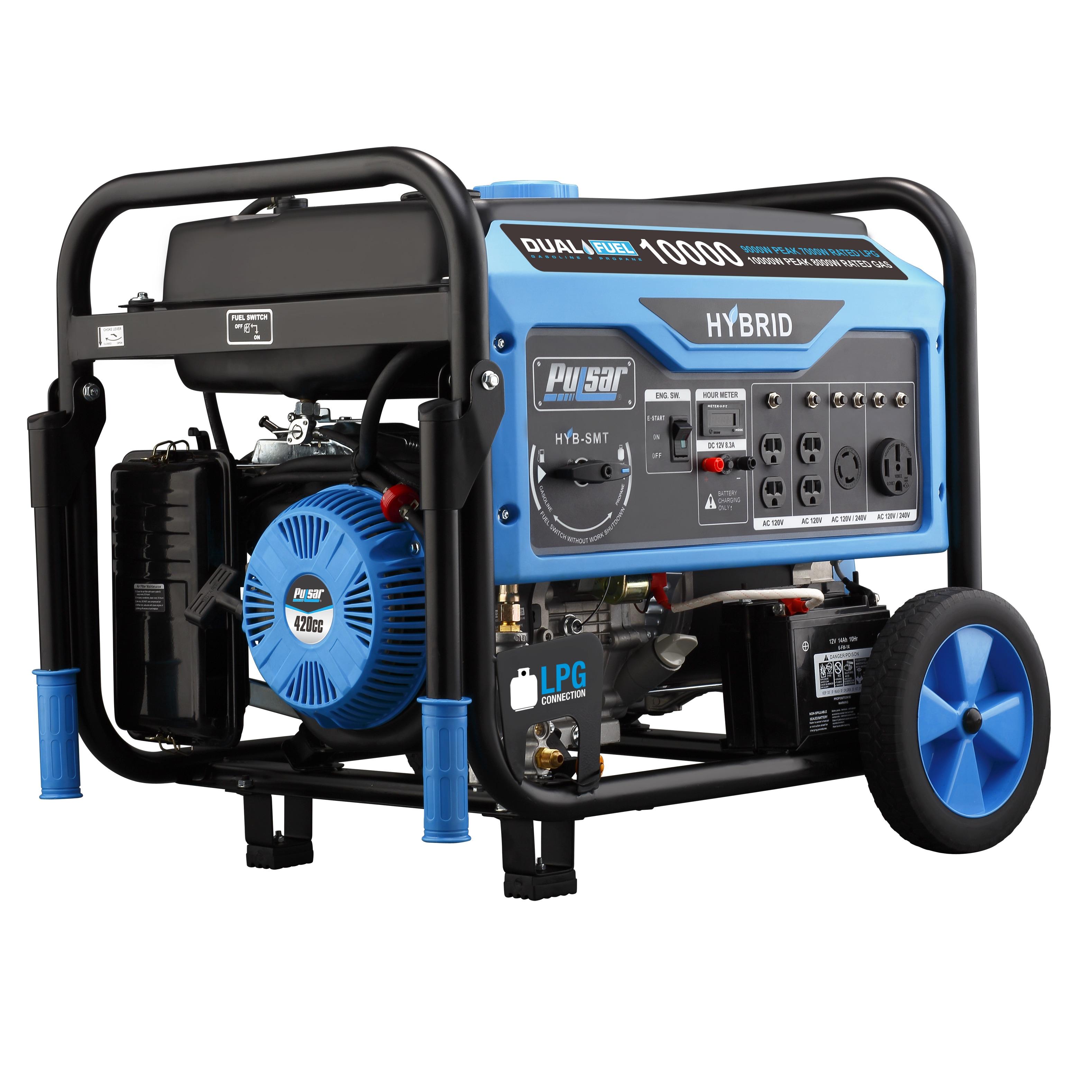 PULSAR 10,000-watt Dual Fuel Portable Generator (PG10000B...