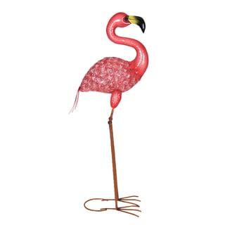 Exhart Pink Metal Flamingo Garden Statue
